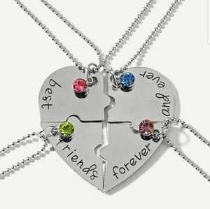 Rhinestone Necklace 4pcs Splicable